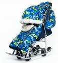 Детские санки-коляска Pikate Милитари Limited