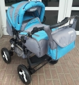 Детская коляска Adamex Avalon пластиковые колеса
