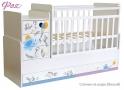 Детская кровать - трансформер с маятником Фея 1100 фотопечать