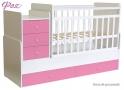 Детская кровать - трансформер с маятником Фея 1100 цветная