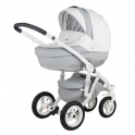 Детская коляска Adamex Barletta Karbon Deluxe 19S (100% кожа)