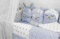 Комплект в кроватку с игрушками ByTwinz Друзья 4 пр. голубой