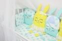 Комплект в кроватку с игрушками ByTwinz Друзья 4 пр. желтый