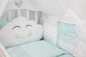 Комплект в кроватку с подушками ByTwinz Звездочка 4 пр. голубой