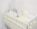 Комплект в кроватку с подушками ByTwinz Звездочка 4 пр. желтый
