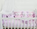 Комплект в кроватку с игрушками ByTwinz Еноты 4 пр.
