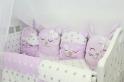 Комплект в кроватку с игрушками ByTwinz Друзья 4 пр. розовый