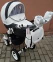 Детская коляска Adamex Barletta Karbon Deluxe 18S (100% кожа)