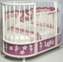 Детская кроватка c маятником Островок Уюта EVA Балет