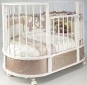 Детская кроватка c маятником Островок Уюта EVA Котята