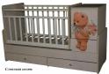 """Детская кроватка - трансформер Антел Ульяна 2 """"Мишка"""""""