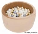 Сухой бассейн с шариками MISIOO круглый 90х40 (вельвет)