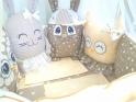 Комплект в кроватку с игрушками ByTwinz Друзья-2 4 пр. кофейный