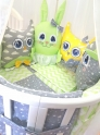 Комплект в кроватку с игрушками ByTwinz Друзья-2 4 пр.