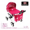 Детская кукольная коляска Adbor Lily Lc-23