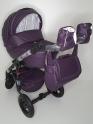Детская коляска Adamex Galactic Slivka (100% эко-кожа)